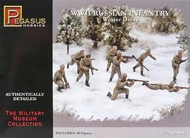 Pegasus WWII Russian Infantry Winter Dress (40) Plastic Model Military Figure 1/72 Scale #7269