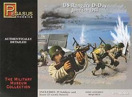 U.S. Rangers D-Day June 6th 1944 (39) Plastic Model Military Figure 1/72 Scale #7351