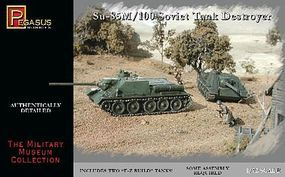 Pegasus Soviet Su85M/100 Tank Destroyer (2) (Snap) Plastic Model Military Kit 1/72 Scale #7663