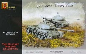 Pegasus JS-2 Soviet Heavy Tank (2) Plastic Model Military Vehicle Kit 1/72 Scale #7669