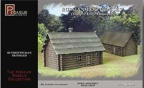 Pegasus Russian Log House (2) (Snap) Plastic Model Military Diorama Kit 1/72 Scale #7703