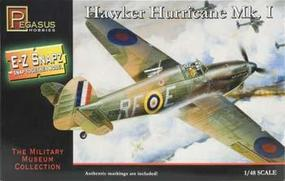 Pegasus E-Z Snapz Hawker Hurricane MK.1 Snap Tite Plastic Model Aircraft Kit 1/48 Scale #8411