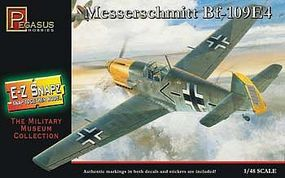 Pegasus E-Z Snapz Messerschmit Bf-109E4 Snap Tite Plastic Model Aircraft Kit 1/48 Scale #8412