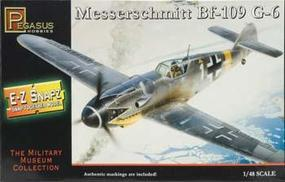 Pegasus E-Z Snapz Messerschmitt BF-109G6 Snap Tite Plastic Model Aircraft Kit 1/48 Scale #8413