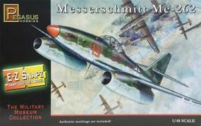 Pegasus E-Z Snapz Messerschmitt ME-262 Snap Tite Plastic Model Aircraft Kit 1/48 Scale #8415