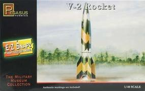 Pegasus E-Z Snapz V-2 Rocket Snap Tite Plastic Model Spacecraft Kit 1/48 Scale #8416