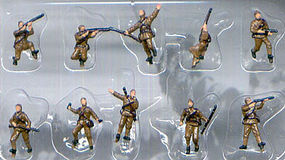 Pegasus Russian Infantry WWII (10) (Painted) Plastic Model Military Figure 1/144 Scale #853