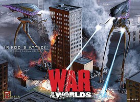 Tripods Attack 2005 War of Worlds Diorama Science Fiction Plastic Model 1/350 Scale #9006