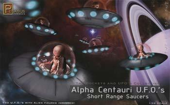 Pegasus Hobbies Alpha Centauri UFO (2) -- Science Fiction Plastic Model Kit -- 1/32 Scale -- #9102