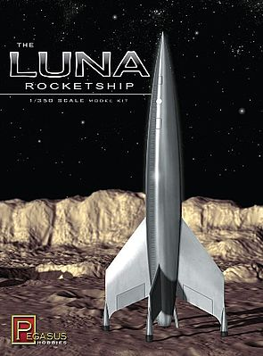 Pegasus Hobbies Luna Rocketship -- Science Fiction Plastic Model Kit -- 1/350 Scale -- #9110