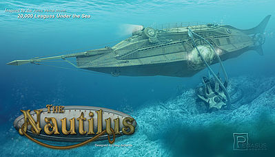 Pegasus Hobbies The Nautilus Submarine -- Plastic Model Military Ship Kit -- 1/144 Scale -- #9120