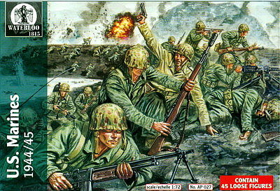 Pegasus Hobbies US Marines 1944-1945 WWII -- Plastic Model Military Figure Kit -- 1/72 Scale -- #ap027