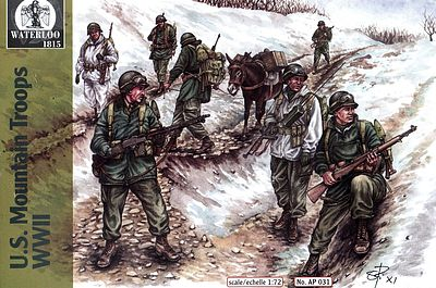 Pegasus US Mountain Troops WWII Plastic Model Military Figure Kit 1/72 Scale #ap031