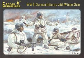 Pegasus Caesar WWII Winter German (42) Plastic Model Military Figure 1/72 Scale #c005