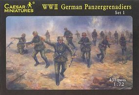 Pegasus Caesar German Panzergrenadiers (43) Plastic Model Military Figure 1/72 Scale #c052