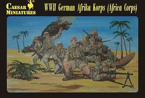 Pegasus WWII German Afrika Korps (32) Plastic Model Military Figure Kit 1/72 Scale #c070