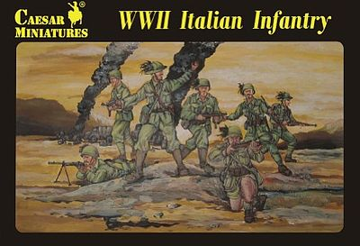 Pegasus Hobbies WWII Italian Infantry (30) -- Plastic Model Military Figure -- 1/72 Scale -- #c072