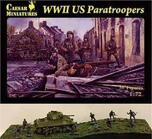 Pegasus WWII US Paratroopers (30) Plastic Model Military Figure 1/72 Scale #c076