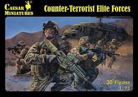 Pegasus Counter-Terrorist Elite Forces (30) Plastic Model Military Figure 1/72 Scale #c082