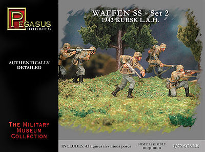 Pegasus German Waffen SS Set 2 (43) Plastic Model Military Figure 1/72 Scale #c7202