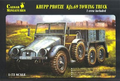 Pegasus WWII Krupp Protze Kfz.69 Towing Truck Plastic Model Military Vehicle Kit 1/72 Scale #c7203
