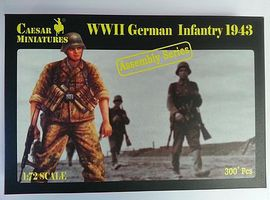 Pegasus WWII German Infantry 1943 (300) Plastic Model Military Figure 1/72 Scale #c7711
