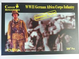 Pegasus WWII German Afrika Korps Infantry (300) Plastic Model Military Figure 1/72 Scale #c7713