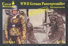Pegasus WWII German Panzer Grenadier Winter (300) Plastic Model Military Figure 1/72 Scale #c7714
