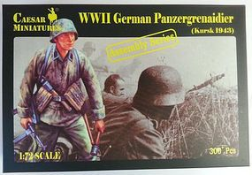 Pegasus WWII German Panzer Grenadier Kursk 1943 Plastic Model Military Figure 1/72 Scale #c7715