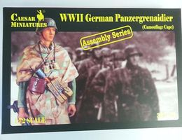 Pegasus WWII German Panzer Grenadier Camouflage Plastic Model Military Figure 1/72 Scale #c7717
