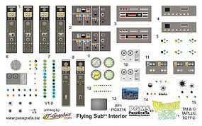 Paragraphix 1/32 Voyage to the Bottom of the Sea- Flying Sub Interior Decal Set for MOE