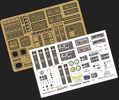 Paragraphix 1/32 Voyage to the Bottom of the Sea- Flying Sub Interior Photo-Etch & Decal Set for MOE