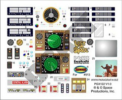 Paragraphix 1/35 LiS- Jupiter 2 Spaceship Stock Interior Decal Set for MOE
