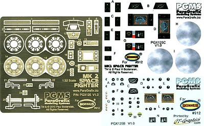 Paragraphix 1/32 Battlestar Galactica- Viper Mk II Photo-Etch & Decal Set for MOE