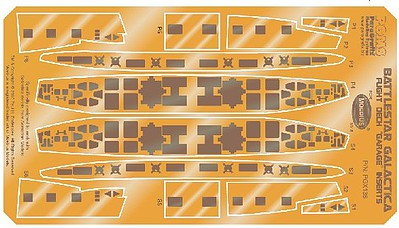Paragraphix 1/4105 Battlestar Galactica- Hull Inserts Photo-Etch Set for MOE