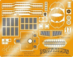 Paragraphix 1/144 20,000 Leagues Under the Sea- The Nautilus Submarine Photo-Etch Set for PGH
