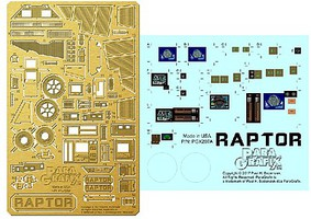 Paragraphix 1/32 Battlestar Galactica- Raptor Photo-Etch & Plastic Film Set for MOE