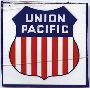 Phil Derrig Designs Railroad Sign -- Union Pacific ''Overland'' - 8 x 8''
