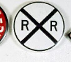 Phil-Derrig (bulk of 12) RR Magnet Rlrd Crossing