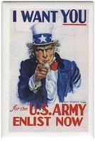 Phil-Derrig (bulk of 12) Magnet I Want You US Army