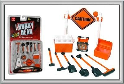 Phoenix-Toys Raod Work Caution Sign, Tool Box, Etc. Plastic Model Diorama 1/24 Scale #16060