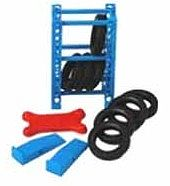 Phoenix-Toys Garage Tire Rack, Tires, Creeper, Ramps Plastic Model Diorama 1/24 Scale #16061