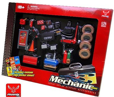Phoenix-Toys Mobile Mechanic Accessory Set Plastic Model Diorama 1/24 Scale #18415