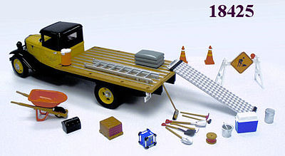 Phoenix-Toys Construction Zone Accessory Set Diecast Model Car Parts Vehicle Accessory 1/24 #18425