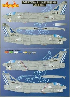 Phoenix Aviation Decals 1/32 A7E Corsair II Last Mission Vol.1 for TSM