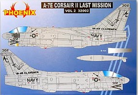 Phoenix-Decals 1/32 A7E Corsair II Last Mission Vol.2 for TSM