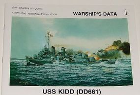 Pictorial-Histories USS Kidd DD661 Authentic Scale Model Boat Book #293