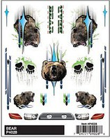 Pine-Car Dry Transer Decals, Bear