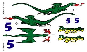 Pine Car Pinewood Derby Dragonfire Decal -- Pinewood Derby Decal and Finishing -- #p308