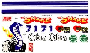 Pine-Car Pinewood Derby Cobra Decal Pinewood Derby Decal and Finishing #p309